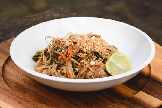 Pad thai vegano a la Parrillero Vegetariano