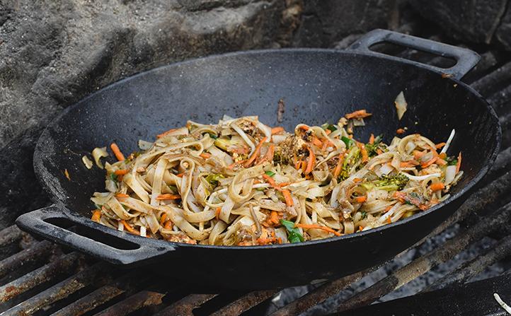 Preparaciones en wok de hierro fundido